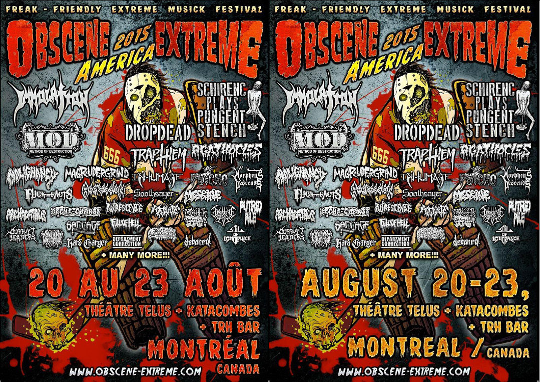 OBSCENE EXTREME AMERICA Line Up Additions with Broken Hope, Rumpelstiltskin Grinder, and more