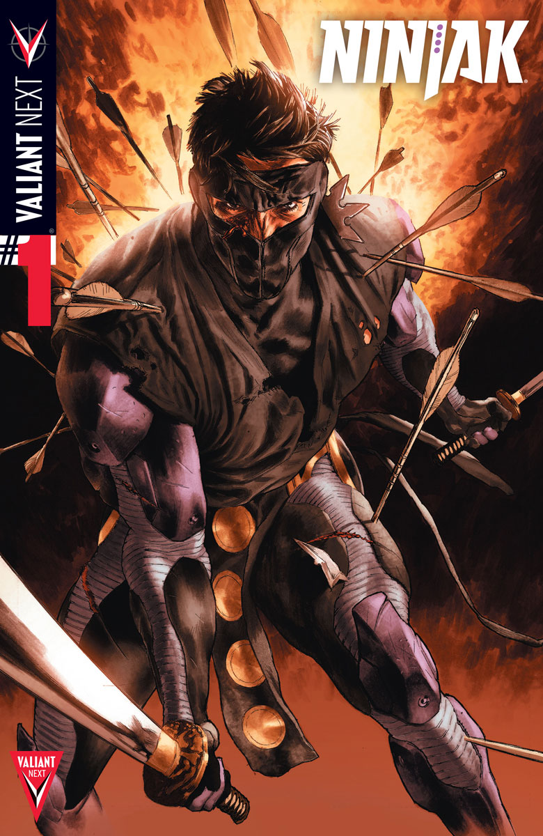 Kindt &Guice on NINJAK: THE LOST FILES, in the Pages of  NINJAK #1