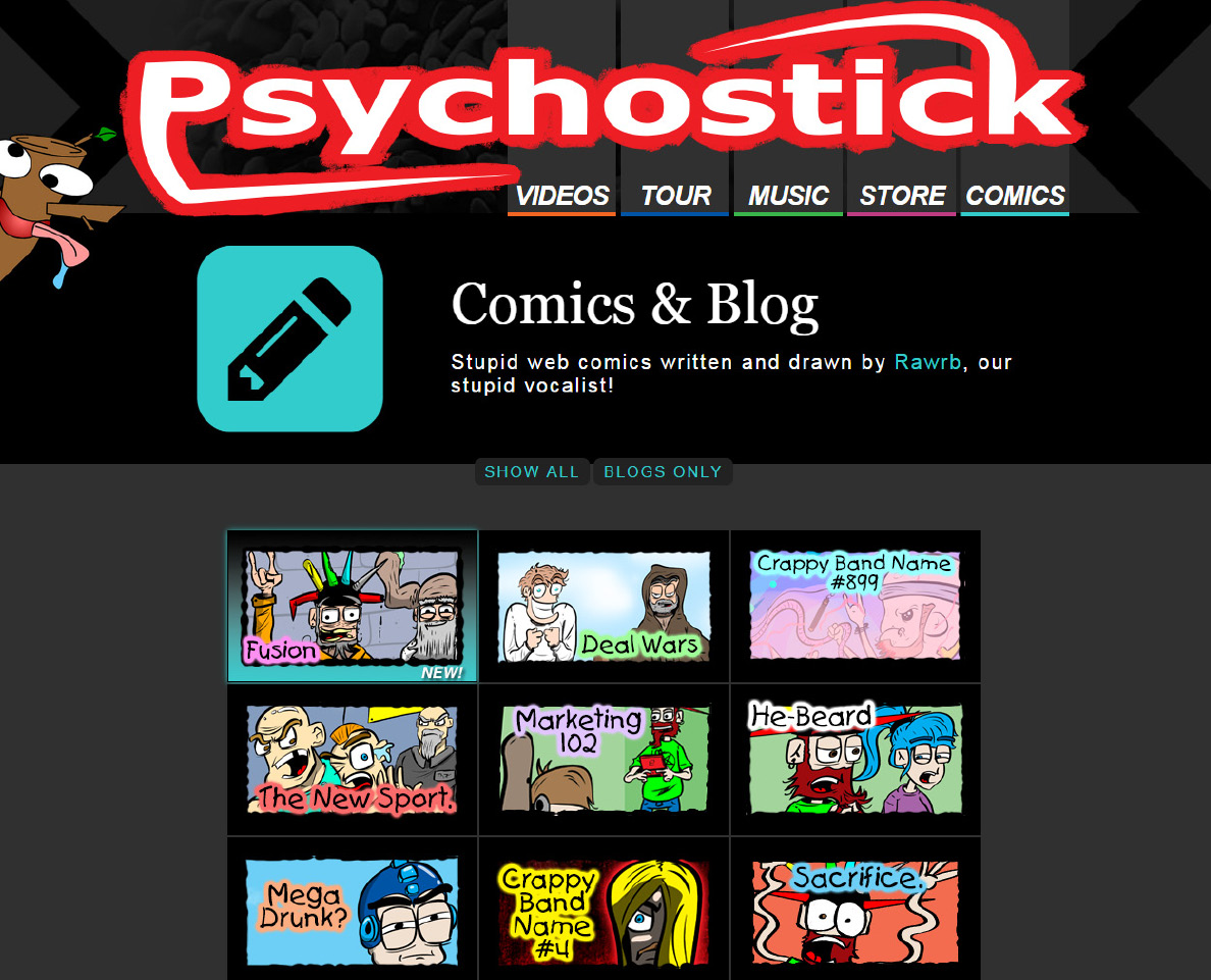 Have Ya Read PSYCHOSTICK Web Comics! Check Out The Latest Written And Drawn By Vocalist Rawrb